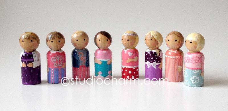 peg doll custom painting