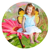 studiocharm gerber daisy fairy canvas