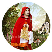 studiocharm red riding hood storybook canvas