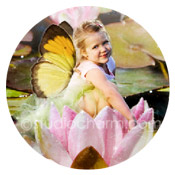 studiocharm water lily storybook canvas