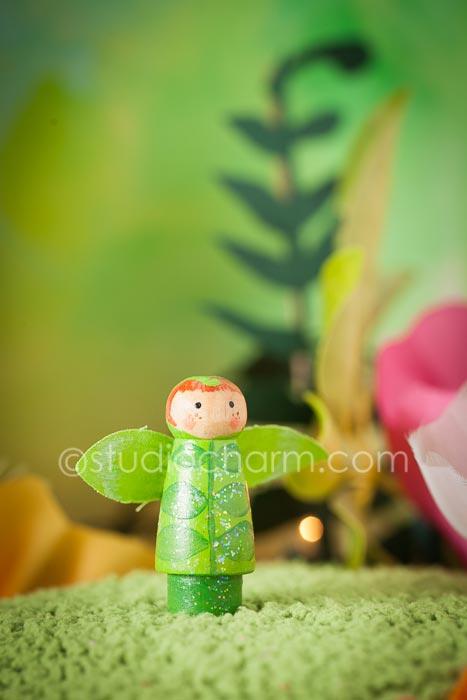 studiocharm fern fairy peg doll