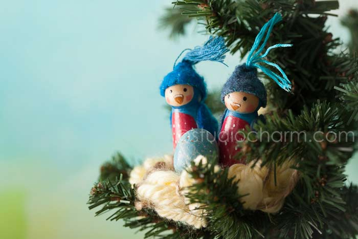 studiocharm peg doll bluebirds
