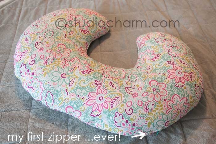 studiocharm boppy pillow cover zipper