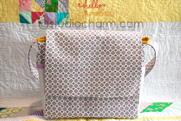 studiocharm messenger diaper bag