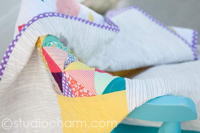 studiocharm herringbone baby quilt