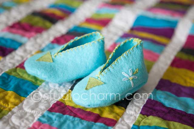 studiocharm bitty booties