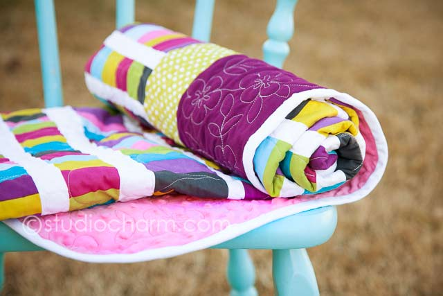 studiocharm modern baby quilt wholecloth