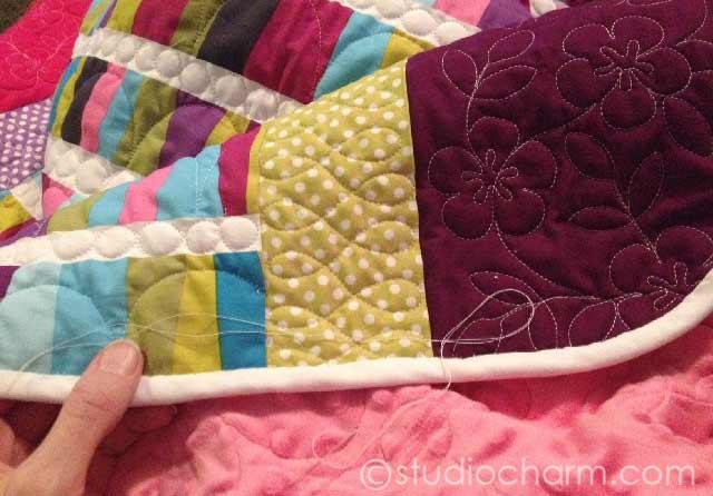 studiocharm modern baby quilt binding